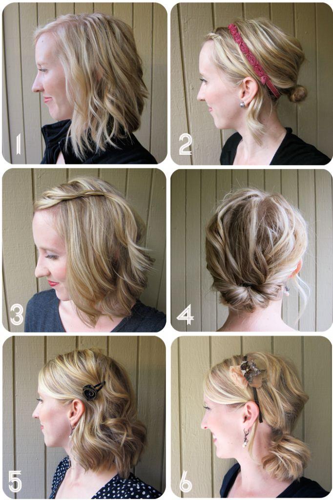 One Week of Great Hair - Simple Hairstyles for Medium Length ...