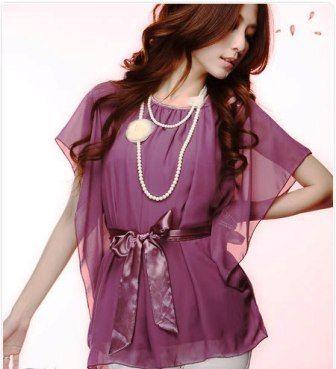 Purple flowy blouse