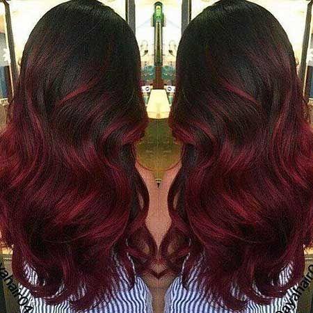 Frisuren ombre rot