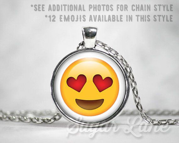 Emoji Necklace or Keychain by Sugar Lane Shoppe. 12 different emojis available!