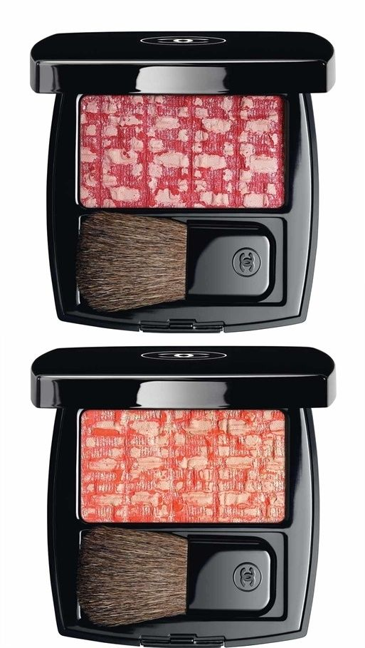 Tweed Cherry Blossom and Tweed Coralline Tweed Blush from Chanel for Spring 2017