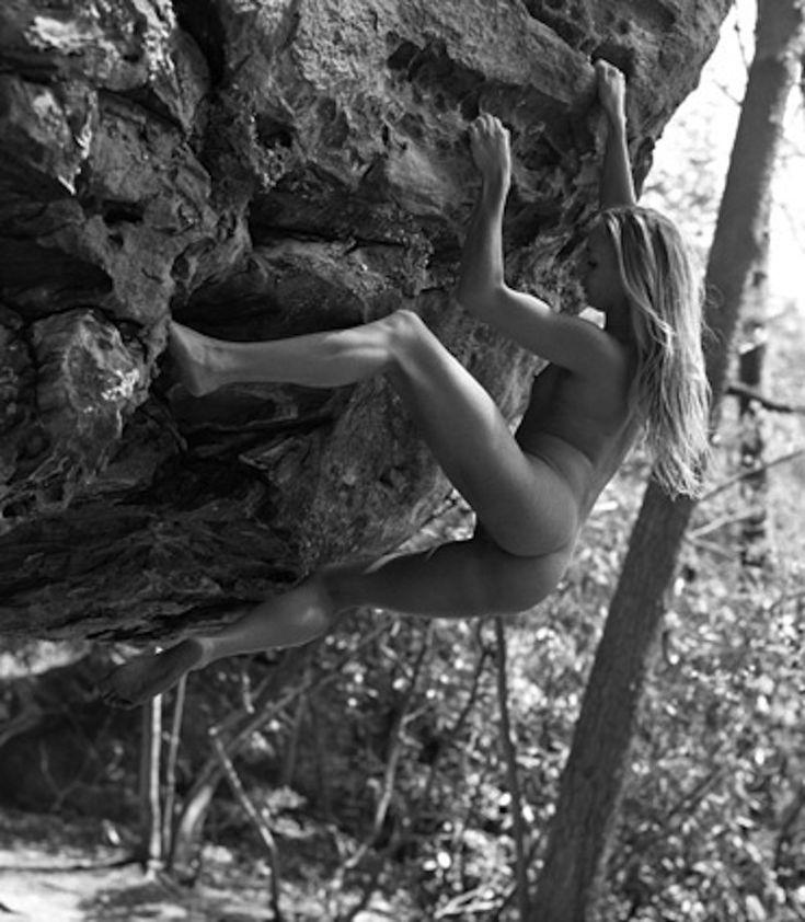 Rock climbing naked women