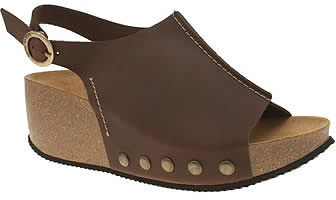 Womens dark brown red or dead brown jackson sandals from Schuh - £50 at ClothingByColour.com
