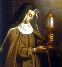 St. Clare (feast day August 11); O God, who in your mercy led Saint Clare to a love of poverty, grant, through her intercession, that, following Christ in poverty of spirit, we may merit to contemplate you one day in the heavenly Kingdom. Through our Lord Jesus Christ, your Son, who lives and reigns with you in the unity of the Holy Spirit, one God, for ever and ever.