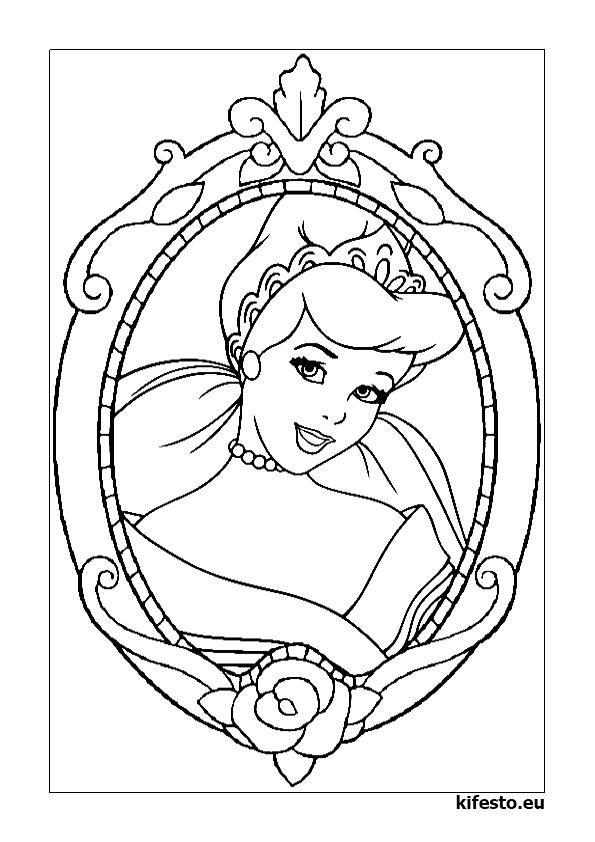 Hercegnős kifestők és színezők. Hercegnős nyomtatható kifestők.