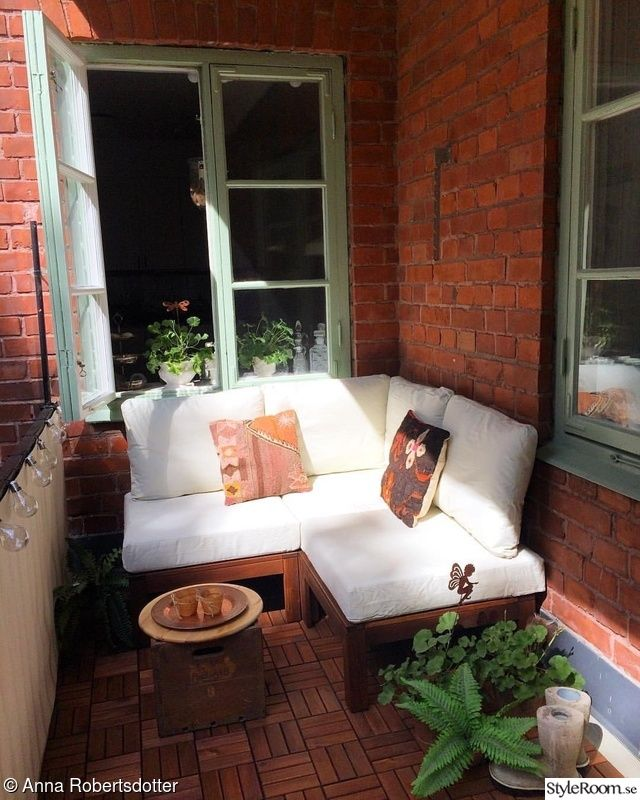 ikea balkong uterum pplar sekelskiftesl genhet exterior gardening balcony pinterest. Black Bedroom Furniture Sets. Home Design Ideas