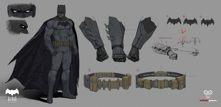 Bat mobile and Character concepts for Batman a Telltale series!