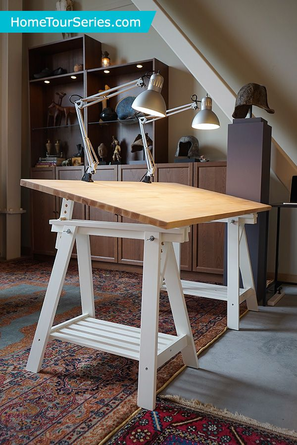GERTON Tabletop beech in 2019  IKEA Home Tour Makeovers  Art desk Furniture projects Ikea