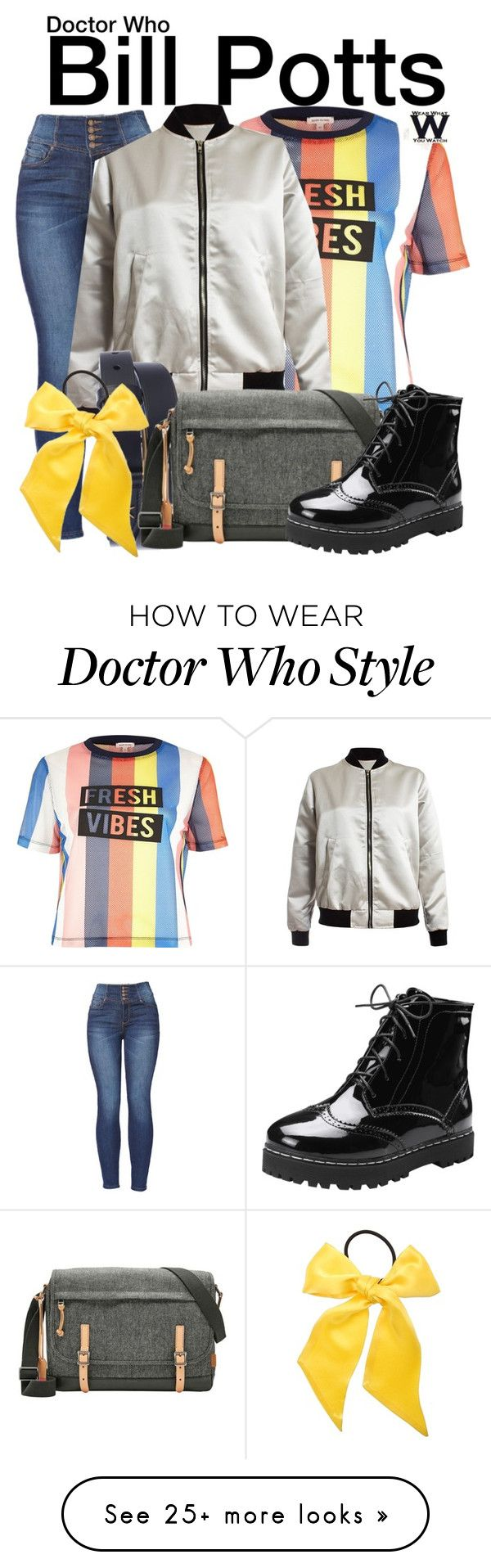"""Doctor Who"" by wearwhatyouwatch on Polyvore featuring River Island, Sans Souci, Gucci, FOSSIL, L. Erickson, television and wearwhatyouwatch"