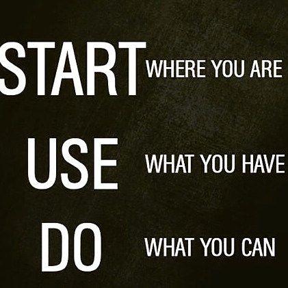 Yep no excuses!