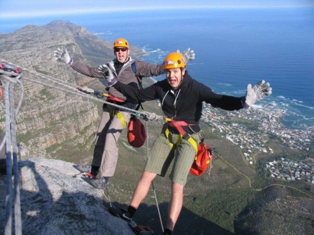 Rapelling in South Africa