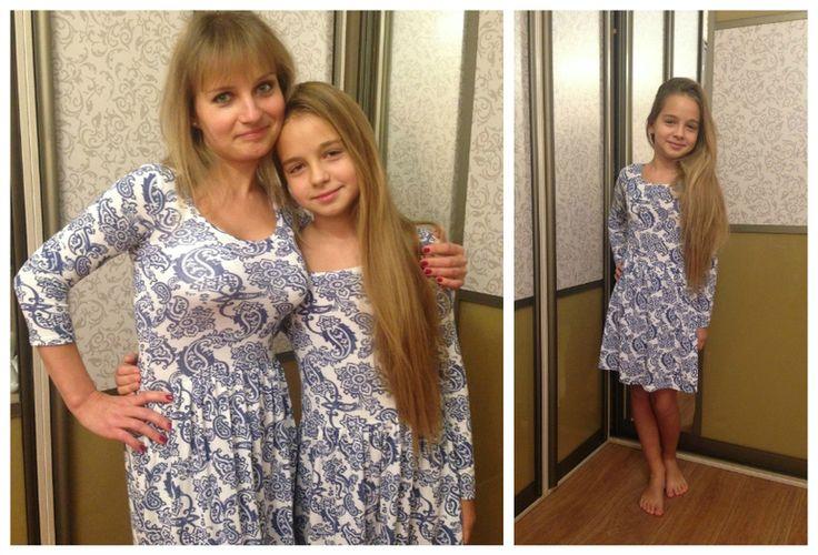 Летние Платья для мам и дочек. 2015