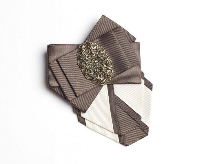 Купить Брошь-галстук Royal vintage - брошь, галстук, орден, репсовые ленты, филигрань, винтаж
