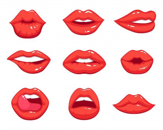 Red Lips Vector Art Free Vector Graphics Vector Free Vector