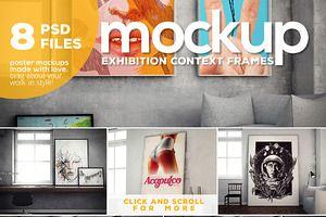 Poster Mockup vol.3 - Context Frames
