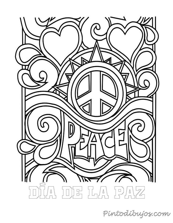 Dia de la paz para colorear   Dia de la paz para colorear