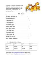 Completar un poema amb paraules: EL GAT