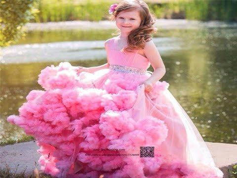 9d5e13831738 Latest party gown for little girls Dresses designs for kids Frill ...