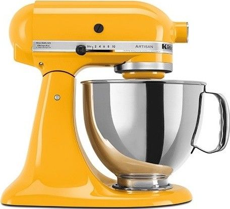 Cool to put some color in the kitchen.    KitchenAid Artisan Stand Mixer in Yellow Pepper contemporary blenders and food processors