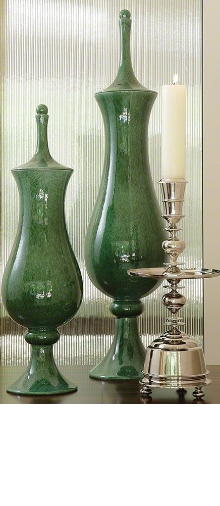 """green vases"" ""green vase"" Ideas By InStyle-Decor.com Hollywood, for more…"