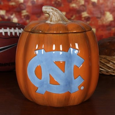 North Carolina Tar Heels (UNC) Ceramic Pumpkin Jar