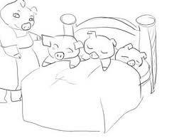 Resultado de imagen para dibujos de los cochinitos dormilones