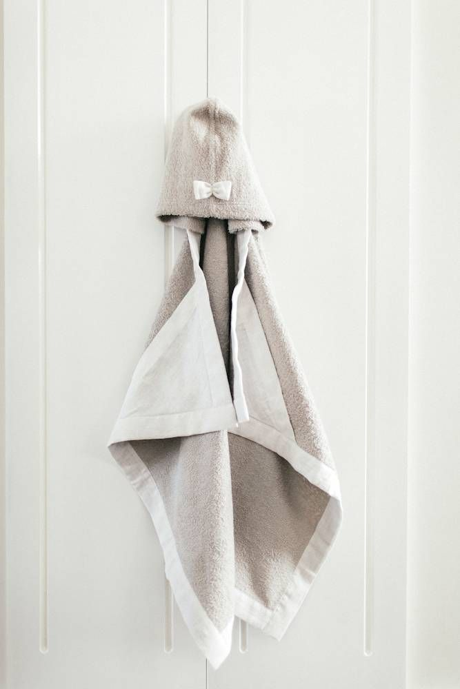 Hooded baby towel - Sand #baby #towel #accessoires #sand #kids #fashion #children #clothes