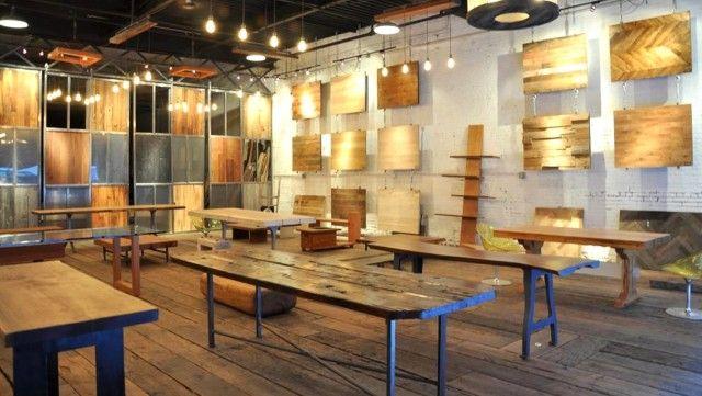 Design Interiors Furniture Showrooms ~ Reclaimed furniture design at mark jupiter showroom new