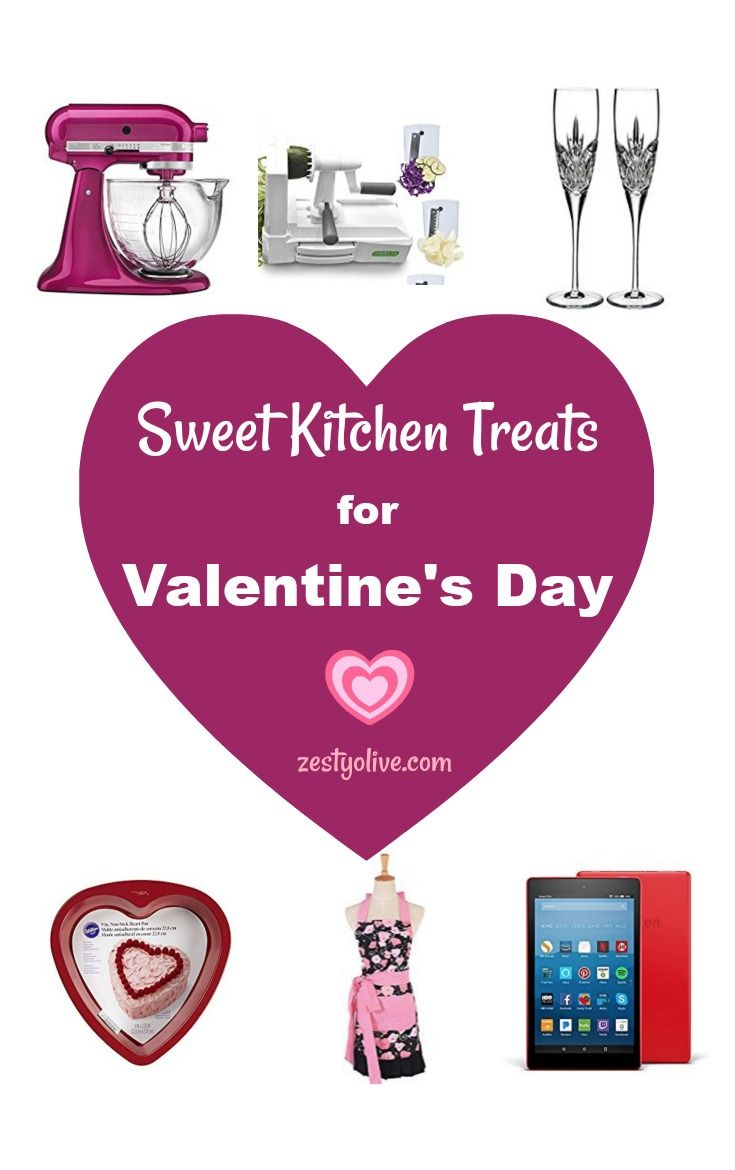 Consider treating yourself with a few sweet kitchen essentials for Valentine's Day ~ guaranteed 100% fat free! Gift yourself some Sweet Kitchen Treats For Valentine's Day. #valentinesday #valentinesdaygiftideas #valentine #kitchen #food #cooking #baking