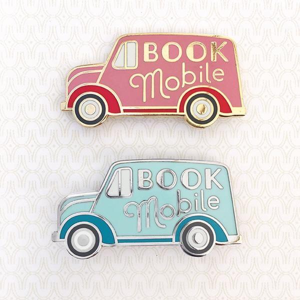 'Book Mobile' Pin (2 Colors!) – Gimme Flair