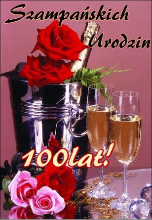 Kartka pod tytułem Urodzinowe 100 Lat!