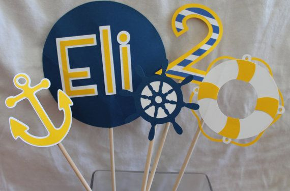 Nautical Party Centerpiece on Etsy, $30.00