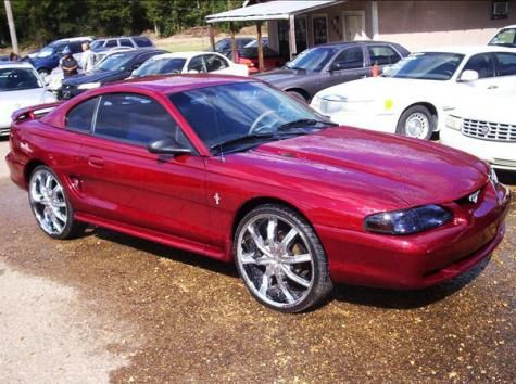 Used 1997 Ford Mustang Custom coupe for sale in Jackson Mississippi (MS) red color with manual 5 speed transmission engine - VIN & Best 25+ Cheap mustangs for sale ideas on Pinterest | Fur 2014 ... markmcfarlin.com