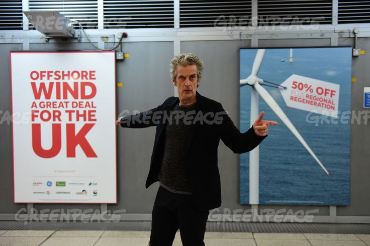 "Peter Capaldi launches new campaign supporting offshore wind as the future for UK energy. ""Great Britain is the world leader in a technology which can generate huge amounts of energy without using any fuel. It's safe, secure, zero-carbon and economical. In fact it's halved in price in just two years. That's 50% off. It's a great deal. And it may just save the planet. The future of energy in the UK is offshore wind power."""
