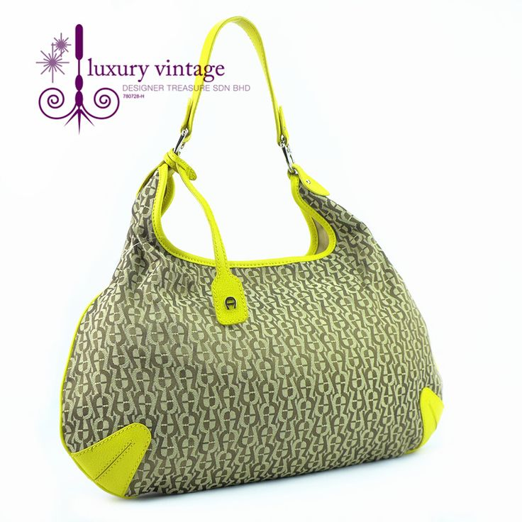 AIGNER Hobo Good Condition Ref.code-(GOKE-2) More Information Pls Email  (- luxuryvintagekl@ gmail.com )