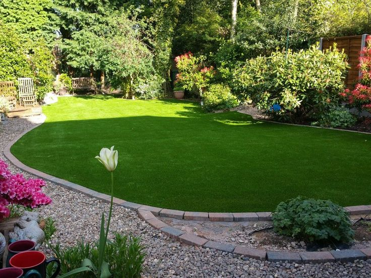 Synthetic grass can be cut to fit just about any shape