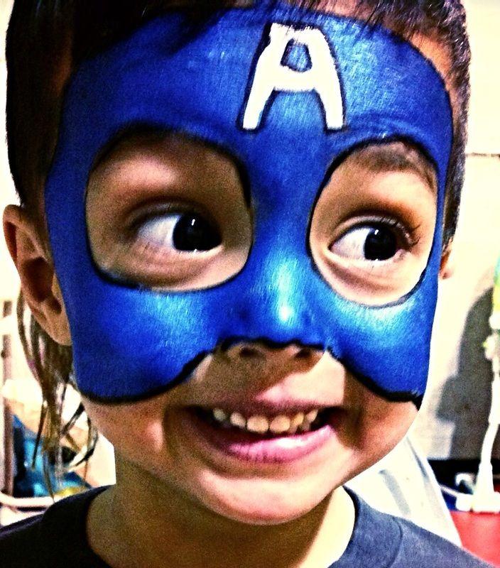 best 25 captain america face paint ideas on pinterest superhero face painting iron man face. Black Bedroom Furniture Sets. Home Design Ideas