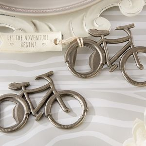 Bicycle Bottle Opener Favors (Kate Aspen 11192NA) | Buy at Wedding Favors Unlimited (http://www.weddingfavorsunlimited.com/bicycle_bottle_opener_favors.html).