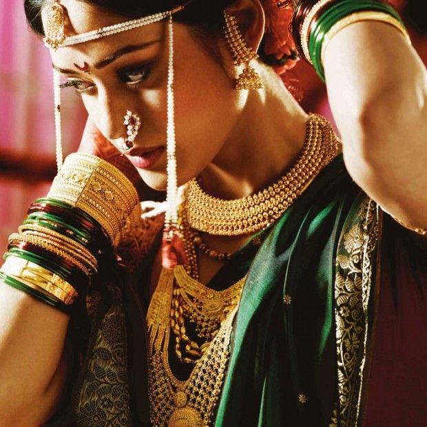 maharashtrian bride in yellow saree - Google Search