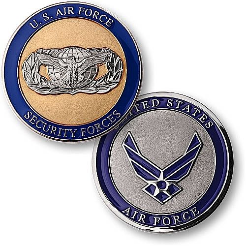 U.S. Air Force Security Forces Coin