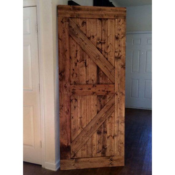 Custom made sliding barn door british brace design for Custom made doors