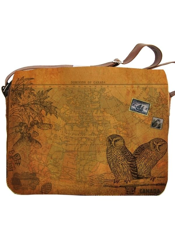 Celebrate Our Love For Canada With This Cool Vegan Leather Large Messenger Bag Which Is Also