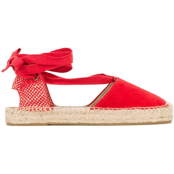 Soludos bow detail espadrilles (€88) ❤ liked on Polyvore featuring shoes, sandals, red, soludos shoes, red espadrilles, red espadrille shoes, red bow sandals and soludos