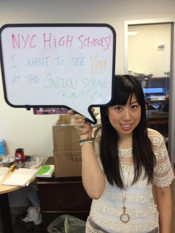 We're getting stoked at our NYC office for the Spring Run - here's our Education Officer, Sylvia Wong, with a message to NYC high school students.