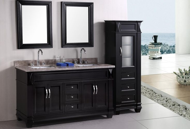 Bathroom Cabinets: Hudson Double Bathroom Vanities With Double Sink Mirror Black And White Color For Painting The Wall Art Useful Nice Cool Beautiful Designs With Modern And Contemporary Style A, Ready To Assemble Bathroom Cabinets And Vanities Design With Beautiful View ready to assemble bathroom vanity cabinets wholesale bathroom vanities