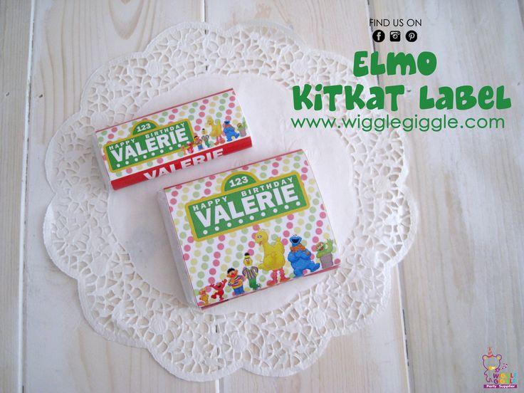 Elmo Kitkat Labels. Visit us at www.wigglegiggle.com
