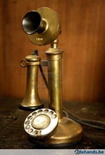 Vintage gouden messing spaans oude telefoon