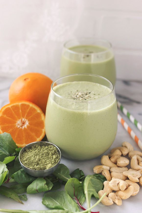 Orange Matcha Smoothie {Gluten-Free + Vegan}