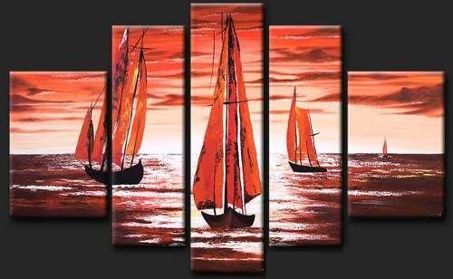 Cuadros modernos tripticos paisajes africanos texturados for Cuadros tripticos online