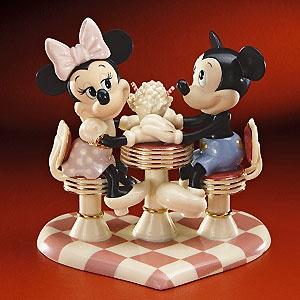 Mickey Mouse - Soda Shop Sweethearts - Lenox - Classics Lenox - World-Wide-Art.com - $119.00